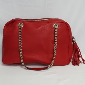 Gucci Bags - New Gucci 353126 Soho Leather Chain Shoulder Bag